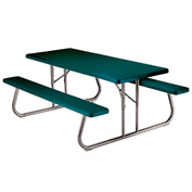 "Lifetime® Fold-Away Picnic Table 72"" X 30"" - Green - Pkg Qty 10"