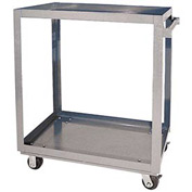 Vestil Aluminum Two Shelf Service Cart SCA2-2848 48 x 28 660 Lb. Capacity
