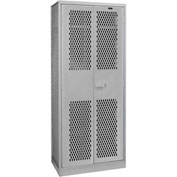 "Hallowell TA50HT422478VE-HG All Welded TA50 Military Gear Storage Locker - 42""W x 24""D x 78""H - Gray"