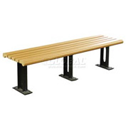 6' Modern Bench in Recycled Plastic Lumber