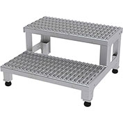 24 W x 24 L Adjustable Height Step Stands Stainless Steel