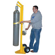Vestil Portable Cylinder Lifter CYL-LT-1-PN with Pneumatic Wheels