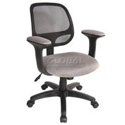 Breezer™ Mesh Office Task Chair with Arms Gray