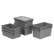 LEWISBins Nest Only Container RNO2115-12 - 21-3/8  x  15-5/16  x 12-5/16 Gray Closed Handle - Pkg Qty 5
