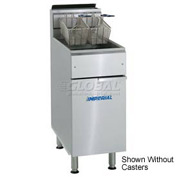 Imperial Gas Fryer 40 lb. - Natural Gas with Casters