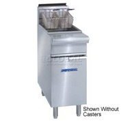 Imperial Gas Fryer 75 lb. - Liquid Propane with Casters