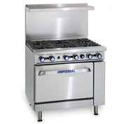 Imperial IR-6, Gas Restaurant Range - 6 Burner