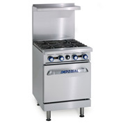 "Imperial Gas Restaurant Range - 24"" 4 Burner"