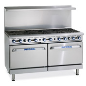 "Imperial Gas Restaurant Range - 60"" 10 Burner"
