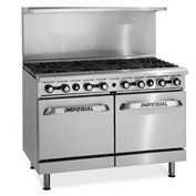 "Imperial Gas Restaurant Range - 48"" 8 Burner Natural"