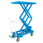 "Bishamon® MobiLift™ Double Scissor Lift Table BX-50S 1100 Lb. Capacity 39.5"" Lift"