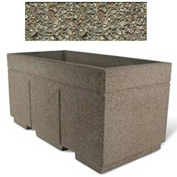 "Concrete Outdoor Planter w/Forklift Knockouts, 72""Lx36""W x 36""H Rectangle Gray Limestone"