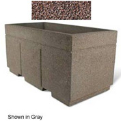 "Concrete Outdoor Planter w/Forklift Knockouts, 72""Lx36""W x 36""H Rectangle Red Quartzite"