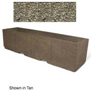 "Concrete Outdoor Planter w/Forklift Knockouts, 96""Lx24""W x 24""H Rectangle Gray Limestone"