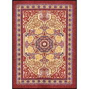 "Orientrax Entrance Rug 3' x 5'-3/8"" Thick Burgundy"
