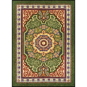 Orientrax Entrance Rug 4' x 12' Thick Emerald