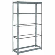 "Heavy Duty Shelving 48""W x 24""D x 96""H With 5 Shelves, No Deck"