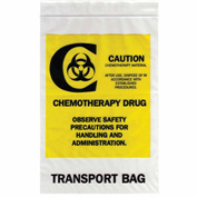 """Reclosable Chemotherapy Drug Transport Bags, 2 mil, 6"""" x 9"""", Clear, 1000 per Case"""