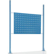 "Risers With 48"" Workbench Louver Panel Blue"
