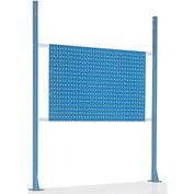 "Risers With 48"" Workbench Pegboard Panel Blue"