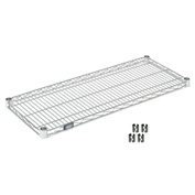 "Nexel S2136Z Poly-Z-Brite Wire Shelf 36""W x 21""D with Clips"