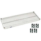 Poly-Z-Brite Wire Shelf 21x48 with Clips
