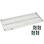 "Nexel S2154Z Poly-Z-Brite Wire Shelf 54""W x 21""D with Clips"