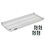 "Nexel S1454Z Poly-Z-Brite Wire Shelf 54""W x 14""D with Clips"