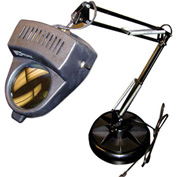 3 Diopter Magnifier Lamp with Spinning Weighted Organizer by