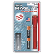 Maglite® M2A036 2 Cell AA Mini Flashlight Red