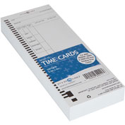 Time Card for Totaling Payroll Time Recorder, Pack of 100