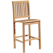 Oxford Garden® Sonoma Outdoor Bar Side Chair - Teak