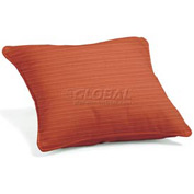 "Throw Pillow 15"" Square - Dupione Papaya"