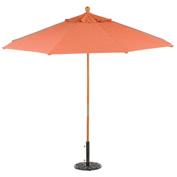 Sunbrella® Outdoor Market Umbrella 9' - Dupion Papaya