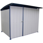 "Steel Storage Building With Doors 120"" x 96"" x 91"""