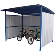 "Steel Bicycle Storage Shelter With Bike Street Rack 120""x 96""x 91"""