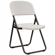 Lifetime® Folding Loop Leg Chair, White Granite, Pack of 4