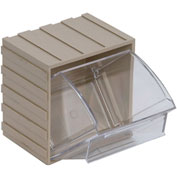Quantum Tip Out Interlocking Bin QTB405 4-1/2 x 4 x 6 Ivory - Pkg Qty 5