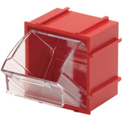 Quantum Tip Out Interlocking Bin QTB409 2-1/2 x 2 x 2-3/4 Red - Pkg Qty 9