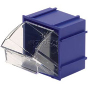 Quantum Tip Out Interlocking Bin QTB409 2-1/2 x 2 x 2-3/4 Blue - Pkg Qty 9
