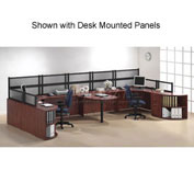 Storlie 2 Person Workstation with Peninsula Table without Panels