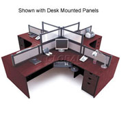 4 Person L-Desk Workstation without Panels