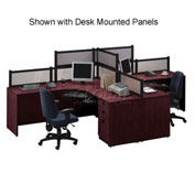 2 Person L-Desk Workstation without Panels