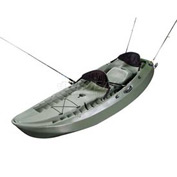 Lifetime® OD Green Sport Fisher Kayak with 2 Backrests and 2 Paddles