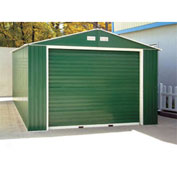 DuraMax Large Metal Garage with Roll Up Door 12' x 32'