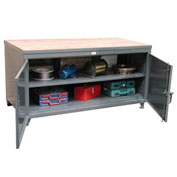 "Strong Hold Cabinet Workbench - 60"" W x 36"" D X 37"" H"