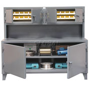 Strong Hold Cabinet Workstation with Bins