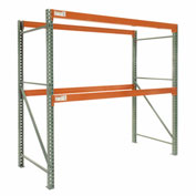 "Global Tear Drop Pallet Rack Starter 120""W x 42""D x 144""H"