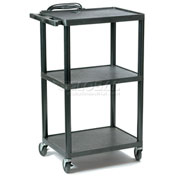 Buhl Plastic Adjustable Height Audio Visual Cart 300 Lb. Capacity