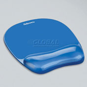 Fellowes®  Gel Mousepad/Wrist Rest - Crystals, Blue - Pkg Qty 4